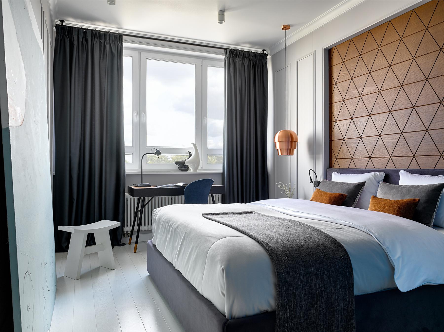 Деревянные панели в спальне: 15+ примеров (галерея 1, фото 3)