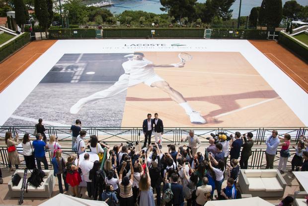 Новак Джокович на пресс-конференции Lacoste в Monte Carlo Country Club