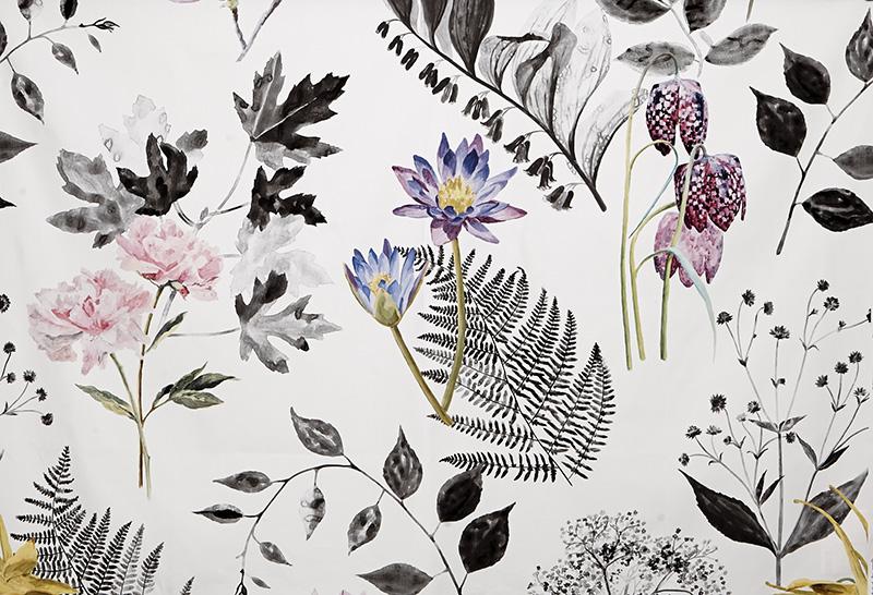 Ткань Mokuren из коллекции Kaori, Designers Guild, компания Vallila Interior International, 149 у.е.
