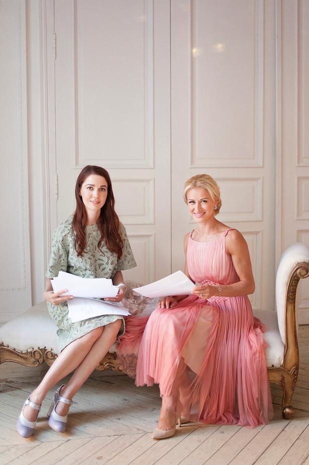 Алена Ахмадуллина шьет свадебное платье для Татьяны Волосожар