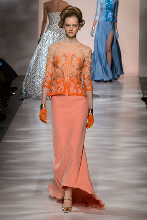 Показ Georges Chakra коллекции сезона Весна-лето 2015 года Haute couture - www.elle.ru - Подиум - фото 593383