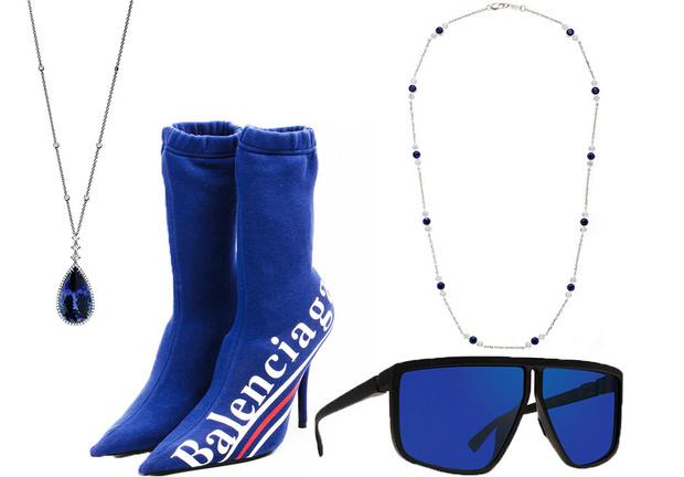 Тренд: украшения и аксессуары в цвете electric blue фото [7]