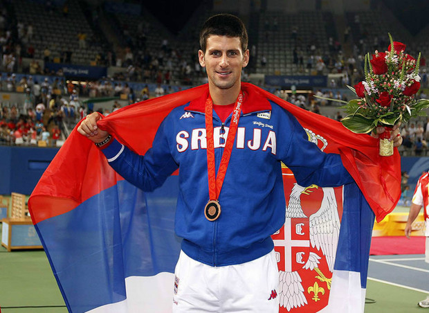 Новак Джокович на Олимпиаде в Пекине