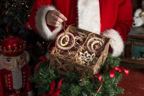 Рождественское печенье и упаковка handmade