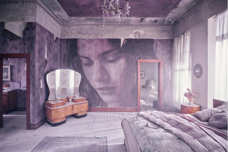 Блеск и нищета: картины на стенах заброшенного особняка (фото 4)