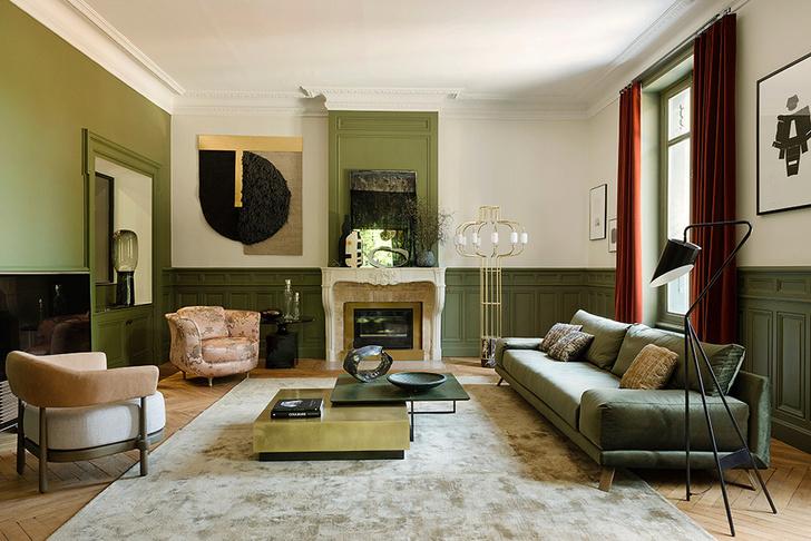 Квартира в зеленых тонах
