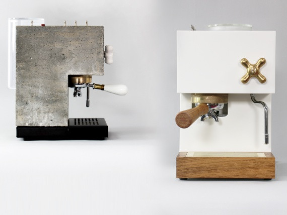 Дизайнеры из Калифорнии сделали кофемашину из бетона