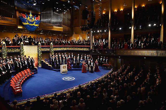 Церемония награждения лауреатов Нобелевской премии 2015