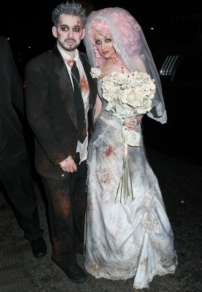 Кристина Агилера в образе «трупа невесты»