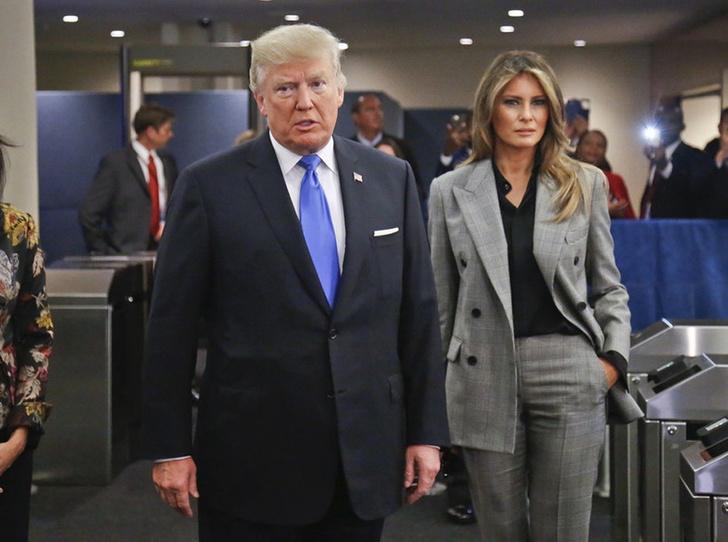 Мелания Трамп в Calvin Klein фото