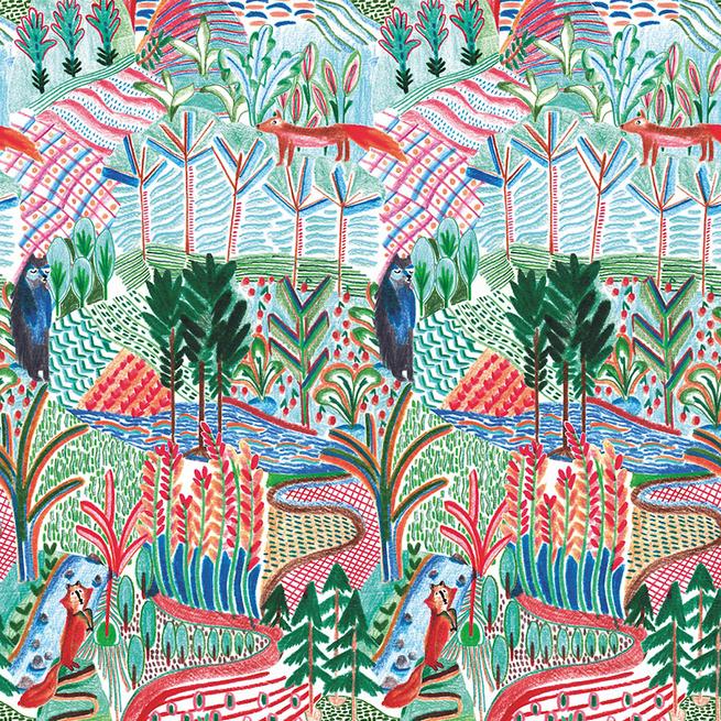 Топ-10: волшебный лес на обоях и тканях (фото 2)