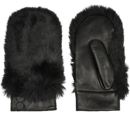 Меховые варежки Karl Lagerfeld