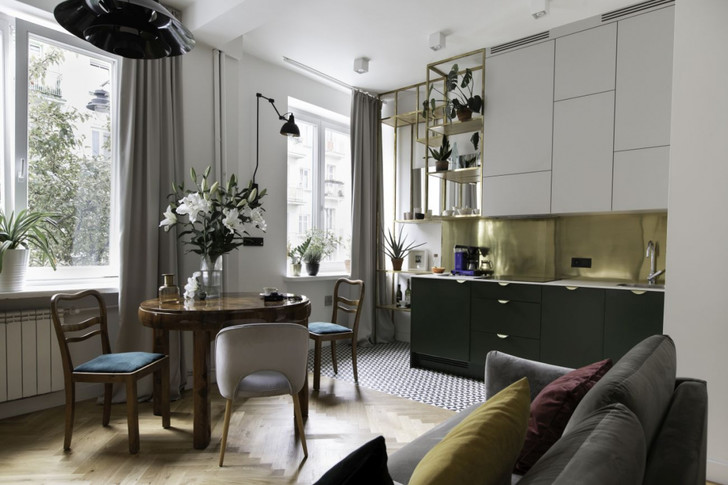 Маленькая квартира в доме 1950-х годов в Варшаве (фото 2)