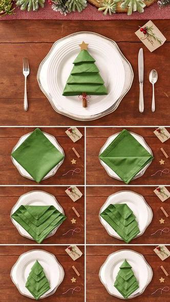 Как красиво сложить салфетки для сервировки стола (фото 24)