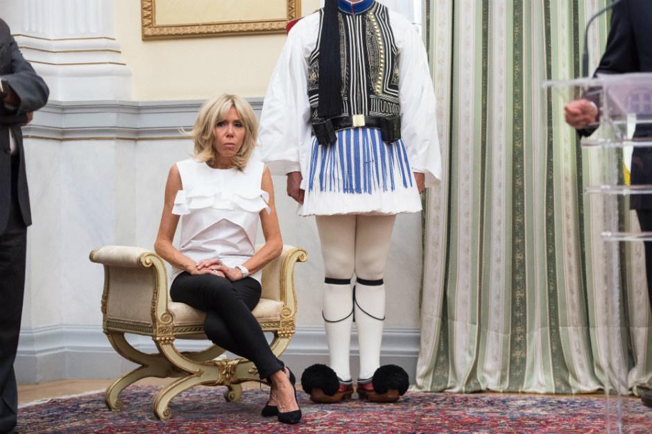 Три образа Брижит Макрон - визит в Грецию (Опрос)