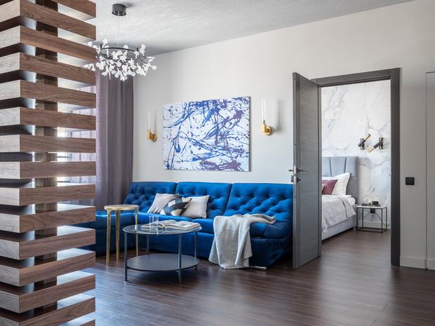 Квартира 65 м² в Москве: современный комфорт с элементами лофта (фото 3)