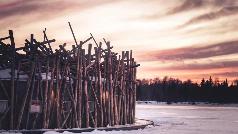 Arctic Bath: плавучий отель в Швеции (галерея 12, фото 2)