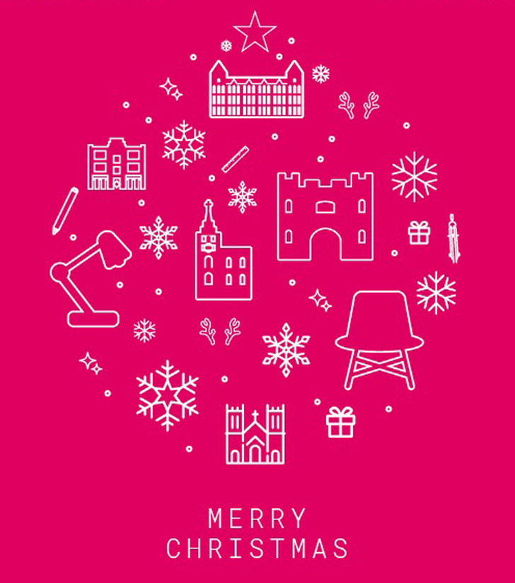 Рождественские открытки от дизайнеров и архитекторов (фото 21)