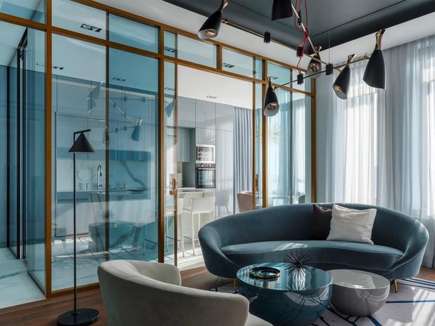 Полукруглый диван: 15+ ярких примеров (галерея 0, фото 6)