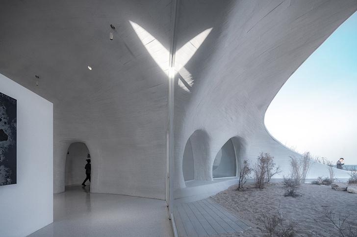 Необычная арт-галерея в песчаной дюне в Китае (фото 6)