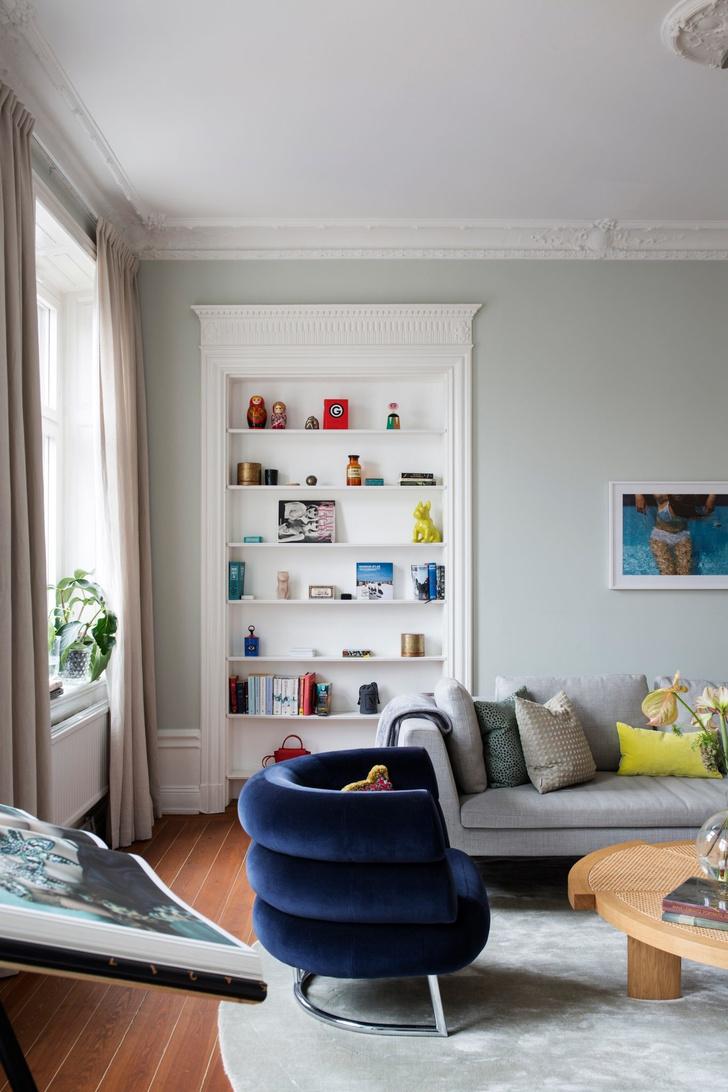 Эклектичный интерьер квартиры в Стокгольме (фото 4)
