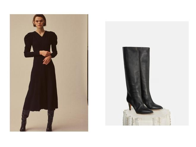 Как сочетать длину юбок с зимней обувью (фото 7)
