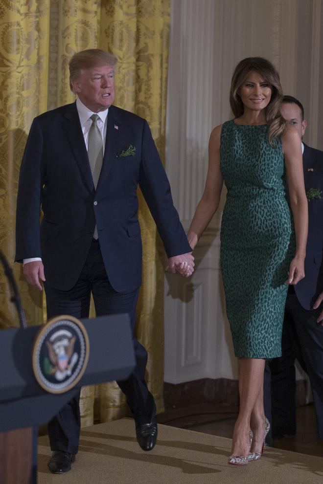 Мелания Трамп на приеме в честь Дня святого Патрика (фото 3)