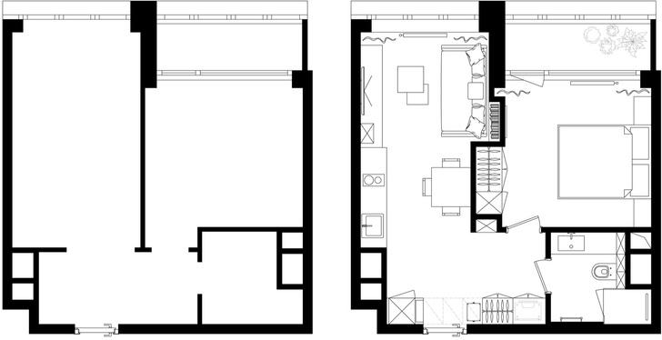 Первый план: все, что нужно знать о планировке маленьких квартир (фото 22)