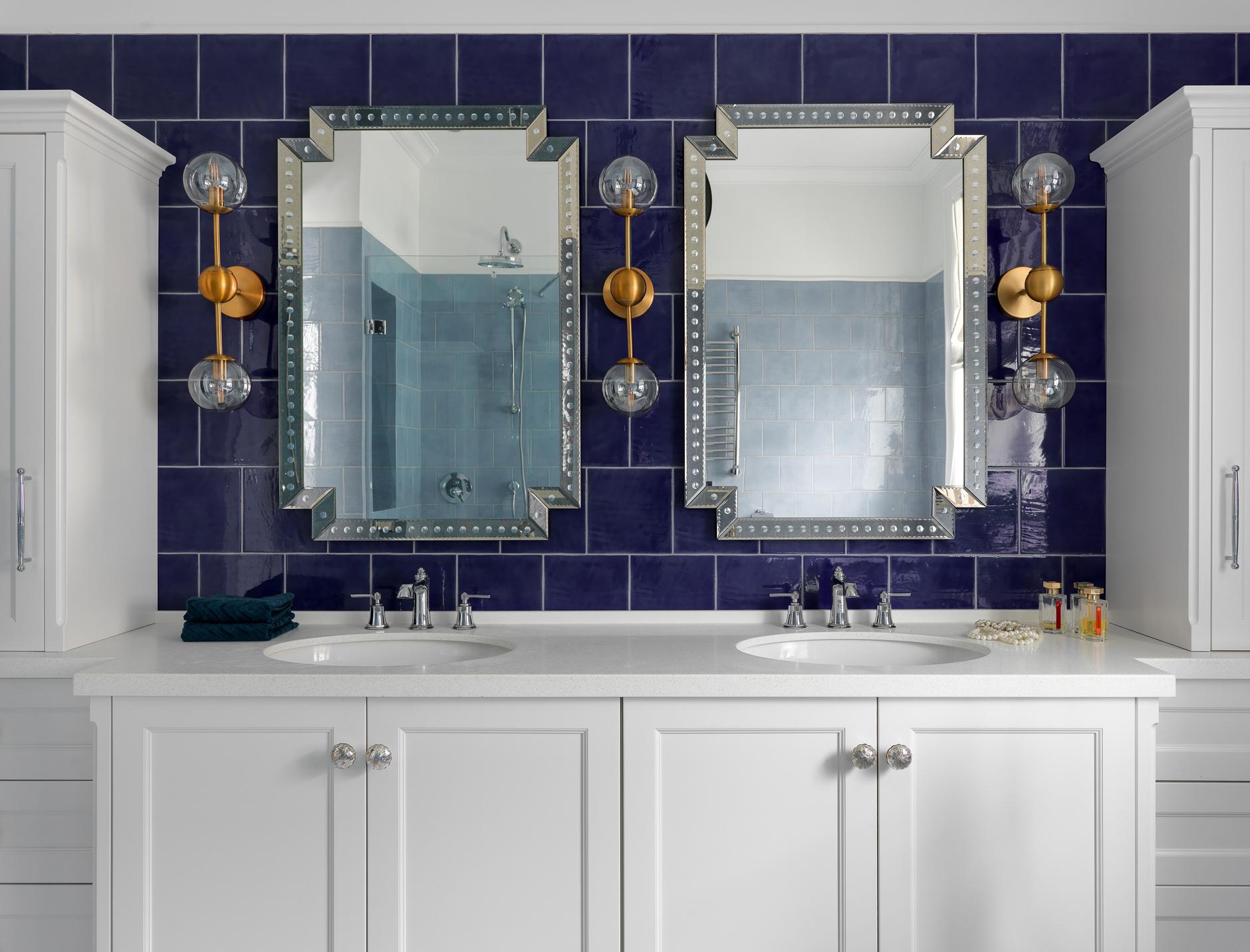 Одна ванная, две раковины: 20 примеров (галерея 1, фото 3)