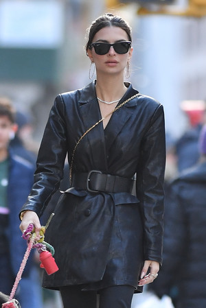 Кожаный тренч вместо пальто: Эмили Ратаковски вдохновит вас на модную покупку (фото 1.1)