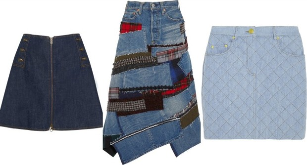 Выбор ELLE: юбка на поперечной молнии See by Chloe, юбка-миди Junya Watanabe, стеганая юбка Moschino