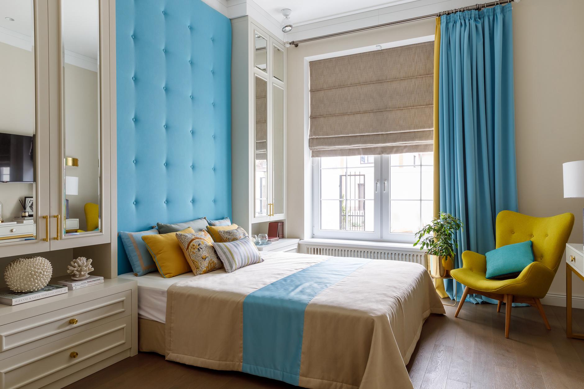 Текстильные панели в спальне: 10 примеров (галерея 0, фото 0)