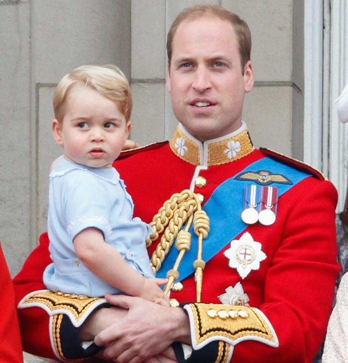 Принц Уильям с сыном Георгом