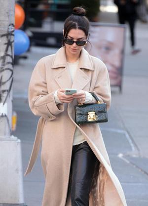 Очень длинное пальто - тренд будущего сезона: пример Эмили Ратаковски (фото 0.2)