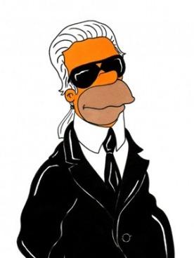 Карл Лагерфельд в образе Гомера Симпсона