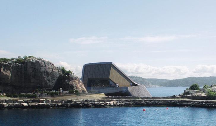 Подводный ресторан в Норвегии фото [1]