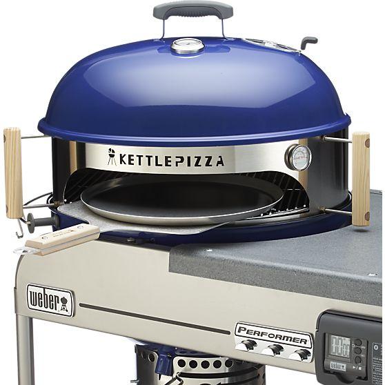 Мини-печь для приготовления пиццы на гриле, Kettle Pizza Delixe USA, Crate & Barrel, www.crateandbarrel.com