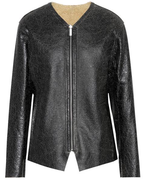 Модные зимние куртки из кожи с мехом | Elle.ru | галерея [3] фото [4]