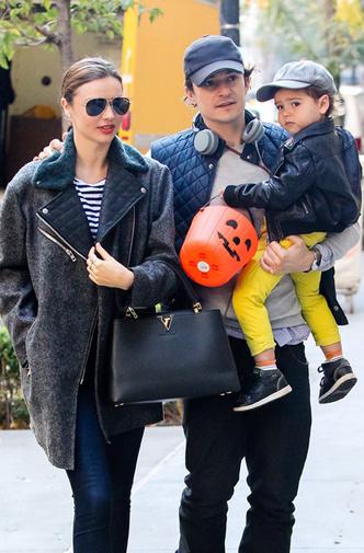 Орландо Блум и Миранда Керр с сыном