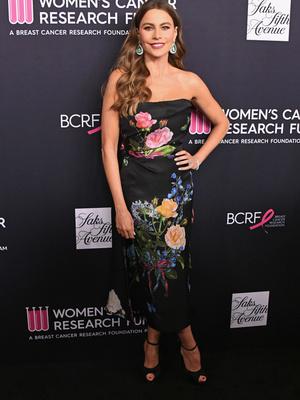 Редкий выход: София Вергара в роскошном платье Monique Lhuillier (фото 1)