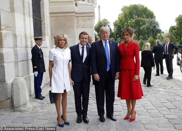 Мелания и Дональд Трамп, Бриджит и Эммануэль Макрон фото