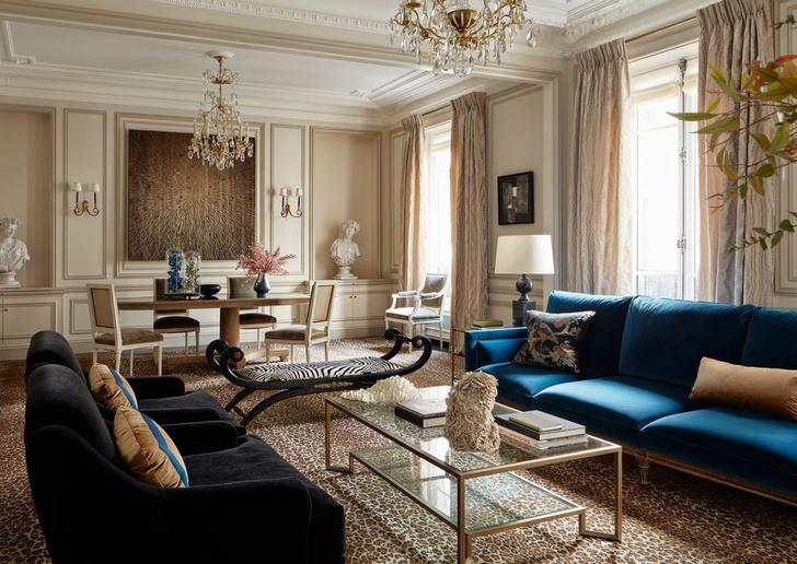 Эклектичный интерьер квартиры в Париже (фото 0)