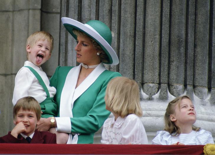 Принцесса Диана, принцы Гарри и Уильям, 1988 год