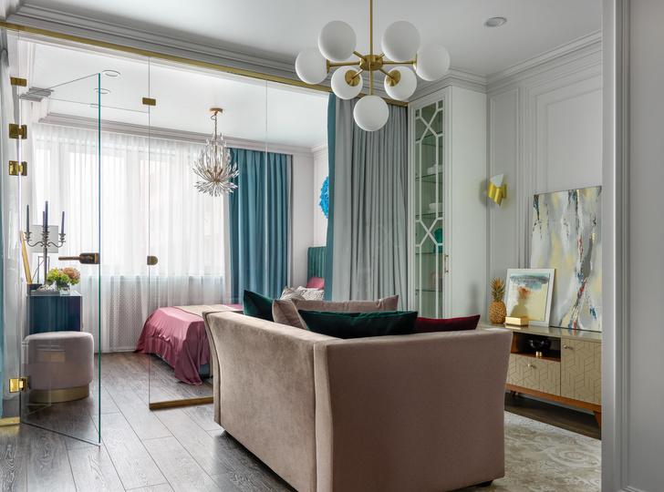 Квартира в Москве 46 м²: яркая классика (фото 0)