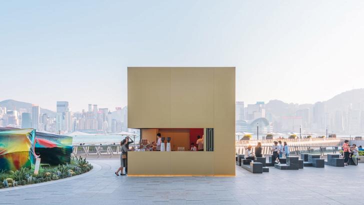 Павильон-куб от OMA перед торговым центром в Гонконге (фото 16)