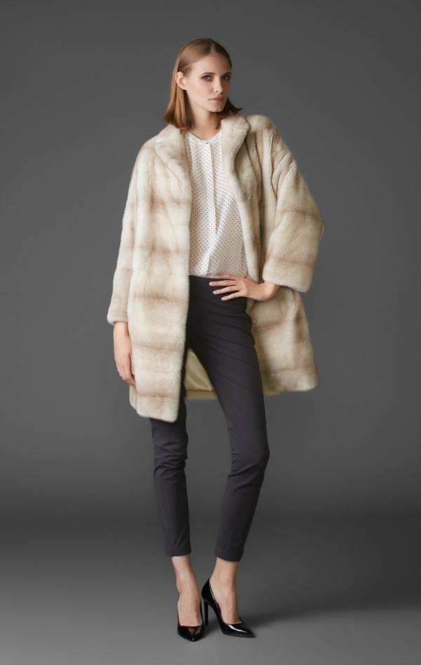 пальто из североамериканской норки nafa