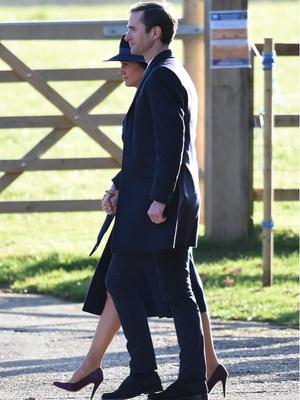 Кейт Миддлтон и принц Уильям посетили воскресную службу (фото 3)
