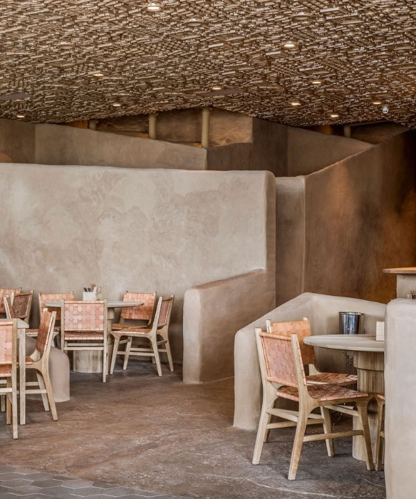 Ресторан с необычным потолком в Мексике