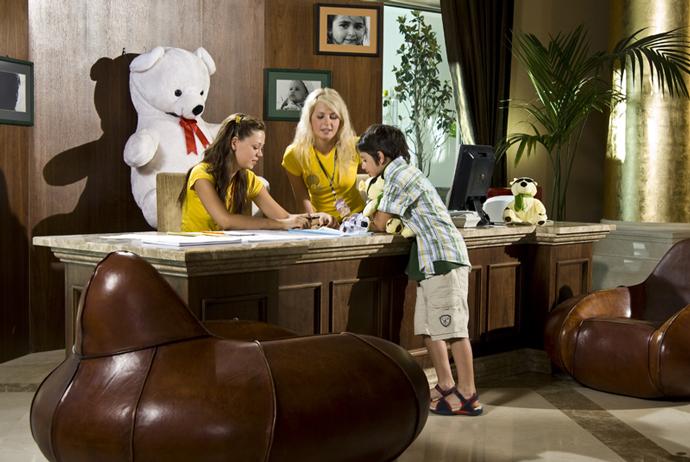Детский reception мини-клуба Everland Q