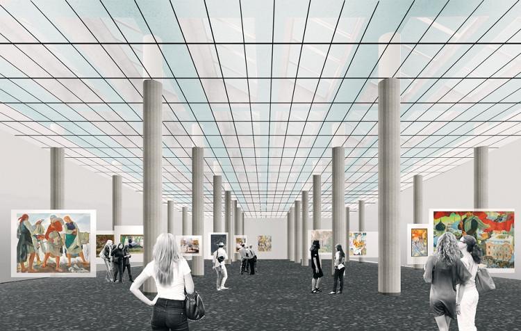 Проект реконструкции Новой Третьяковки в Москве (галерея 4, фото 1)